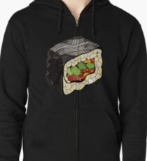 Sushi illustration Zipped Hoodie
