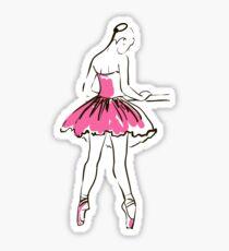 sketch of girl's ballerina  Sticker
