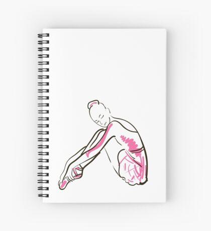 Skizze der Ballerina des Mädchens Spiralblock