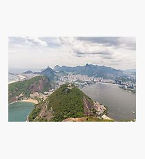 Corcovado to Copacabana from Sugarloaf Mountain, Rio, Brazil Photographic Print