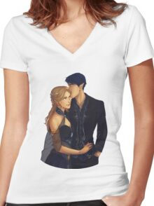 Feyre and Rhysand Women's Fitted V-Neck T-Shirt