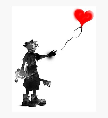 the boy,the key,the balloon Photographic Print