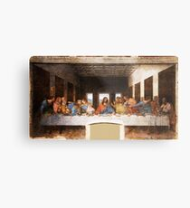 The Last Supper by Leonardo Da Vinci Metal Print