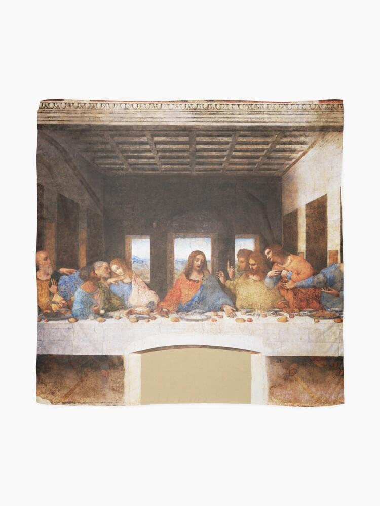 Alternate view of The Last Supper by Leonardo Da Vinci Scarf