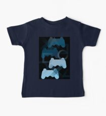 PS3 Gaming blue Baby Tee