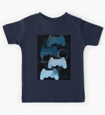PS3 Gaming blue Kids Tee