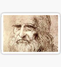 Leonardo Da Vinci Self portrait Sticker