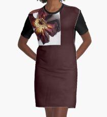 Crisp Rose Graphic T-Shirt Dress