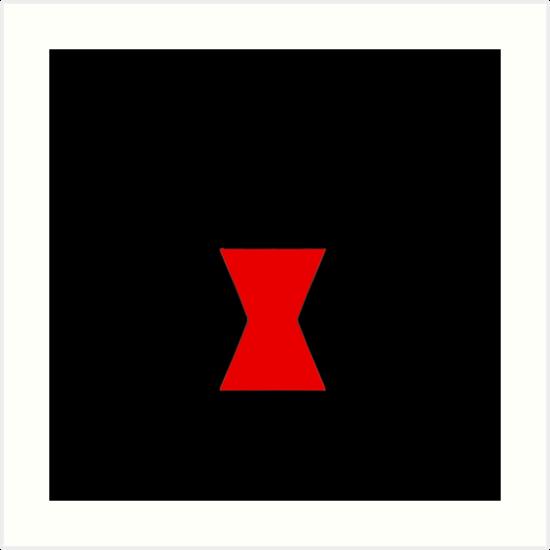 Black Widow Logo Art Print By Juszcosplay