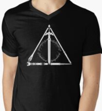 Geeky Hallows Men's V-Neck T-Shirt