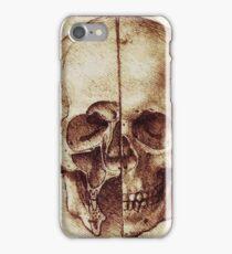 Sketch of a Skull by Leonardo Da Vinci iPhone Case/Skin
