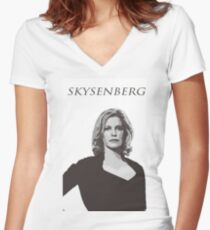 Skyler White - Skysenberg Women's Fitted V-Neck T-Shirt