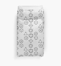 Dot Work Role Playing Dice - Black Duvet Cover