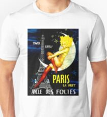 """PARIS"" Vintage Follies Reisedruck Slim Fit T-Shirt"