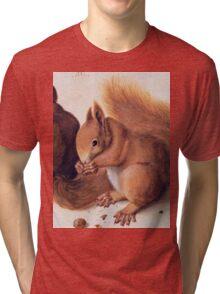 Red Squirrels by Albrecht Durer Tri-blend T-Shirt