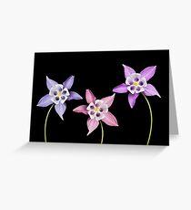 Aquilegia Flower Greeting Card
