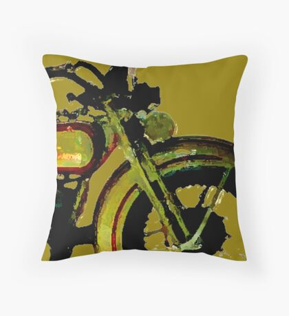 old harley 2 Throw Pillow