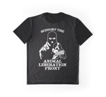 """""""Support the Animal Liberation Front"""" Graphic T-Shirt"""