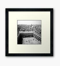 center of the maze Framed Print