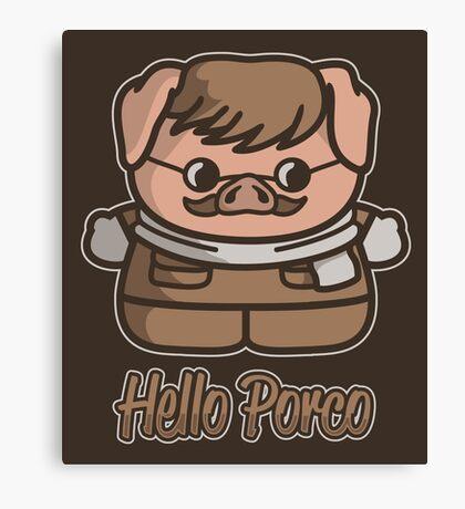 Hello Porco Canvas Print