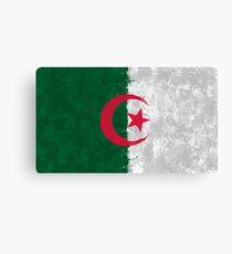Algerian Flag Grunge Canvas Print