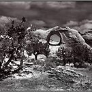 Hole in the Wall Monochrome by Wayne King