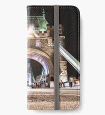 tower bridge on motion iPhone Wallet/Case/Skin