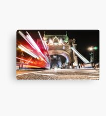 tower bridge on motion Canvas Print