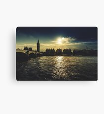 westminster skyline in london Canvas Print