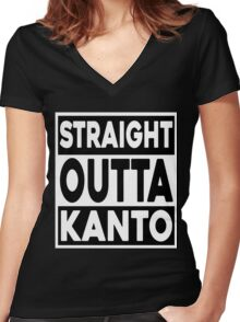 Straight Outta Kanto Women's Fitted V-Neck T-Shirt