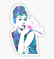 Audrey Hepburn Watercolor Pop Art  Sticker