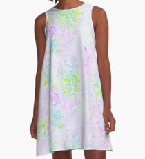 Vibrant Pastel Rorschach A01 A-Line Dress