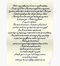 Letter to Laurens Poster