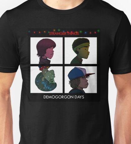 Stranger Things - Gorillaz Album Cover Style Unisex T-Shirt