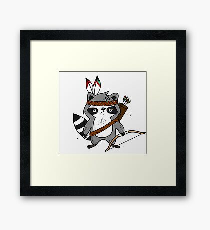 Apache The Raccoon Framed Print