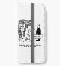Mr Pig has his house assessed by a surveyor iPhone Wallet/Case/Skin