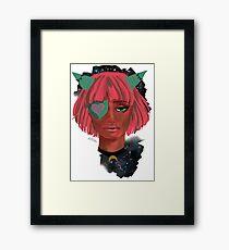 Dark Girl with Cool Horns Framed Print