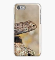 Shedding Western Fence Lizard iPhone Case/Skin