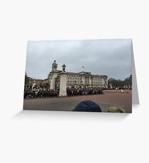 Buckingham Palace on a cloudy day Greeting Card