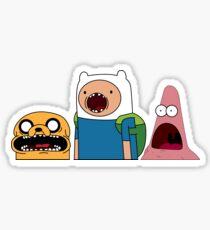 Shocked Jake, Finn & Patrick Sticker
