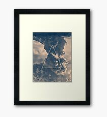 Inverted Cloud Triangle Framed Print