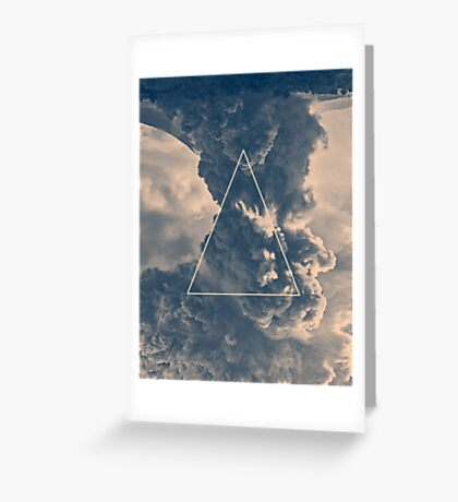 Inverted Cloud Triangle Greeting Card