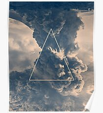 Inverted Cloud Triangle Poster
