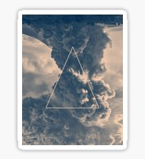 Inverted Cloud Triangle Sticker