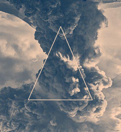 Inverted Cloud Triangle Sticker