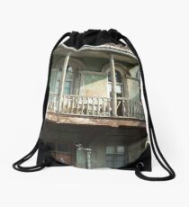 Old City, old house Drawstring Bag