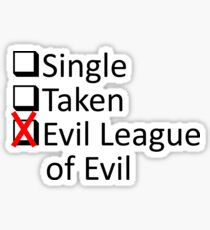 Evil League Of Evil Member Sticker
