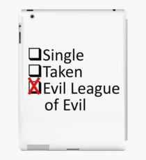 Evil League Of Evil Member iPad Case/Skin