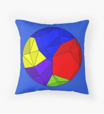 Geometric Circle 600 B primary & secondary colors Throw Pillow