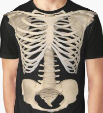 halloween Gothic Anatomy Rib Cage bones human skeleton  Graphic T-Shirt